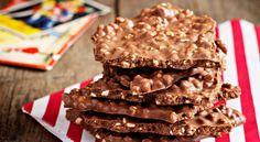 Chokladgodis med jordnötssmör och puffat bovete