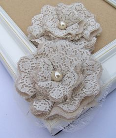 Burlap, Tulle and Lace Flowers Curtsey Boutique    This past week I've added a bunch of new Shabby Chic flowers to the shop.  They combine...