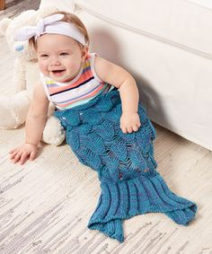 Another great find on #zulily! Navy & Purple Mermaid Tail Blanket - Infant #zulilyfinds