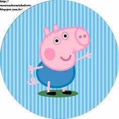 Kit festa George Pig - Montando Minha Festa Pitch some sort of wedding that is Cumple George Pig, Peppa E George, George Pig Party, George Pig Cake, Peppa Pig Printables, Dinosaur Printables, Abecedario Baby Shower, Familia Peppa Pig, Papa Pig