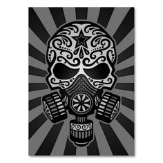Sugar Skulls | ... and Grey Post Apocalyptic Sugar Skull Business Cards from Zazzle.com