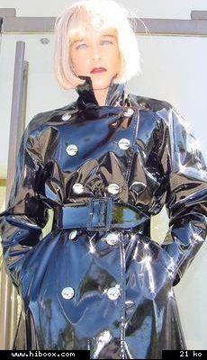Sexy black PVC Raincoat