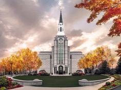 Boston Temple by Brent Borup