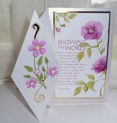 Upright Diamond-Fold Easel Card tutorial by Sheila Weaver - Joanna Sheen