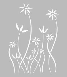 Pochoir Adhésif 30 x 20 cm FLEURS DESIGN