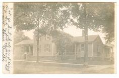 LAPEER MICHIGAN 1908 RPPC real photo postcard of a beautiful home