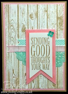 Perfect Pennants on a Hardwood Background by UK based Stampin' Up! Demonstrator Bekka Prideaux - check out her blog for lots of lovely ideas...