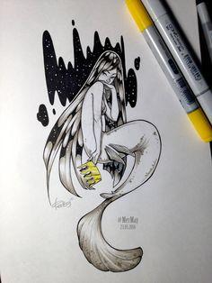 MerMay 23 05 2016 by redisoj on DeviantArt Mermaid Pose, Mermaid Art, Pencil Drawings Of Love, Art Drawings, Illustrations, Illustration Art, Character Art, Character Design, Mermaid Drawings