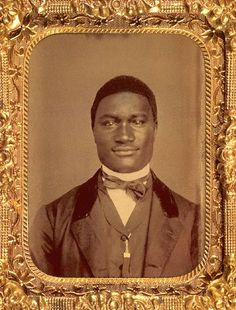 Man with Amiable Smile- Tintype - 1860 - DAGUERREOTYPES FROM THE LIBRARY OF CONGRESS
