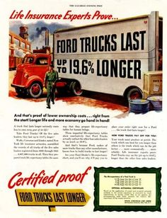 We Love Fords, Past, Present And Future.: Vintage Ford Truck Print Ads