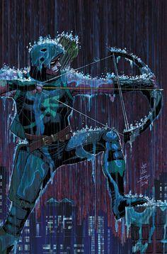 Green Arrow #51 (2016) Variant Cover by John Romita Jr. and Scott Hanna