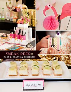 Flamingo Fiesta Girls Night In {Part 1: Dinner & Drinks} I'm super obsessed with this. Espesh love the watermelon flamingos
