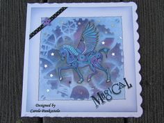 "Crafty Mrs P: Clarity Challenge 23 - ""Things with Wings"" Black Spot, Silver Stars, I Card, Clarity, Stencils, Handmade Items, Wings, Greeting Cards, Challenges"