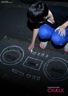 Kate Moross pavement drawing