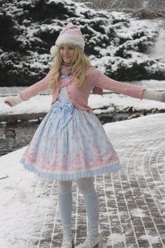 snowwhite890911, a sweet lolita in the frost.♥ ロリータ, sweet lolita, fairy kei, decora, lolita, loli, gothic lolita, pastel goth, kawaii, fashion, victorian, rococo, wa-lolita♥