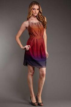 ombre cotton dress