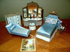 antique dolls house furniture - Google Search
