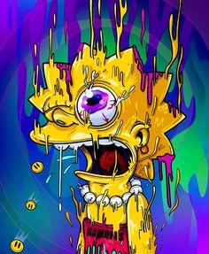 Melting Lisa, The Simpsons Simpson Wallpaper Iphone, Trippy Wallpaper, Cartoon Wallpaper, Psychedelic Art, Art Pop, Acid Art, Simpsons Art, Stoner Art, Dope Wallpapers