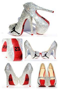 huge selection of 22d41 f3cd3 Jordan 23 Heels in Swarovski crystals. Nike ShoesShoes ...