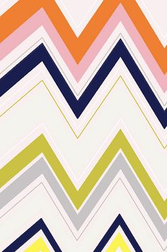 A colorful twist on the typical chevron pattern. pattern by ashleyg, via Flickr