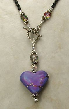 Absolutely Scrumptious Purple Heart Necklace!