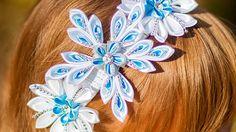 """Ободок Канзаши """"Новогодний"""" / DIY:  A headband Kanzashi on new year"""