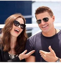 Bones and Booth Emily Deschanel and David Boreanaz John Francis Daley, Booth And Bones, Booth And Brennan, Bones Tv Series, Bones Tv Show, Emily Deschanel, David Boreanaz, Bones Actors, Sean Leonard