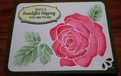 by Tyra: Rose Wonder, Curvy Corner Trio Punch, Rose Garden Thinlits, Wink of Stella Clear - all from Stampin' Up!