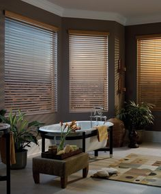 Wooden blinds for the bathroom