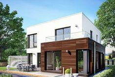 Cube 143   PREFABRICATED - немецкая технология домостроения от DAS HAUS. ДАС ХАУЗ Иваново. Contener House, Sims House, Facade House, Building Design, Building A House, Modern Villa Design, Casas Containers, Garage House Plans, Bungalow House Design