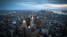Looking at Manhattan from Empire State Building Wallpapers :: HD Wallpapers