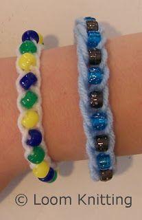 Loom Knitting: Beaded I-Cords