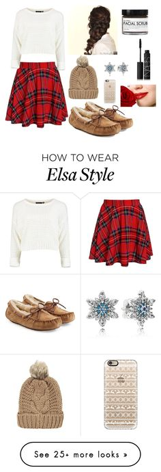 """""""Christmas Lounging *made by Sophie"""" by two-art-obsessed-girls on Polyvore featuring UGG Australia, Disney, Chicnova Fashion, Pandora, Casetify, NARS Cosmetics and Fig+Yarrow"""