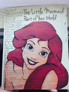 The Little Mermaid - Ariel Part of Your World Piece. Made out of tissue paper and card stock. Incorporate your love of Disney, while keeping it