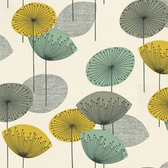 Ivory Bird: Vintage Inspired retro fabric - Sanderson Dandelion - easy retro design to duplicate for cards Motif Vintage, Vintage Design, Retro Vintage, 1950s Design, Retro Design, Retro Fabric, Vintage Fabrics, Mid Century Style, Mid Century Design