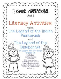 November: Tomie dePaola Unit- The Legend of the Bluebonnet and The Legend of the Indian Paintbrush 3rd Grade Social Studies, Social Studies Lesson Plans, Kindergarten Social Studies, Kindergarten Themes, Literacy Activities, Holiday Classrooms, Classroom Fun, Wordless Book, Native American Legends