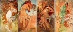 "Fashion Inspired by Art: Alphonse Mucha's ""The Seasons (1896)"" - College Fashion"