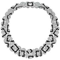 Chanel - Fine Jewelry collection in 18K white gold set with 2 carat Square Cut diamond, 2173 Brilliant Cut - Diamonds (27.3 cts) and carved onyx - July 2014