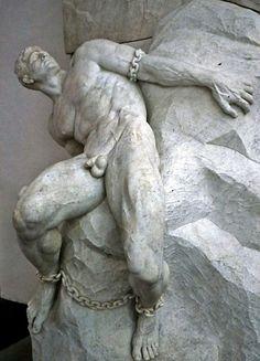 Prometheus - Rheinhold Begas, German sculptor, 1831-1911