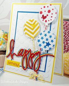Bright Happy Balloons By Tkcspot