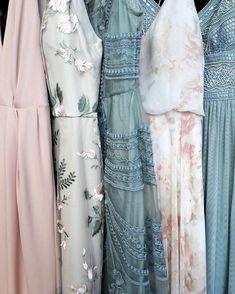 Wedding Bridesmaids, Wedding Tips, Dream Wedding, Chic Wedding, Bridal Dresses, Prom Dresses, Romantic Dresses, Floral Bridesmaid Dresses, Trendy Dresses