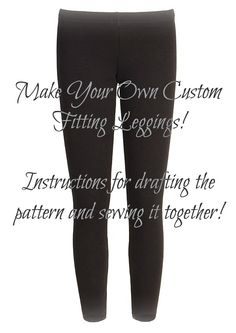 Custom Legging Pattern. YES! every pair i look to buy are always see through, finally the perfect pattern!