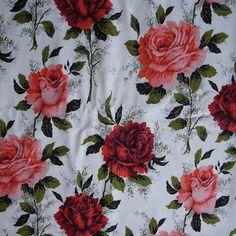 Fanny vintage cotton barkcloth