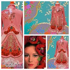 Romantisch roze halflang vest van lodicha op Etsy