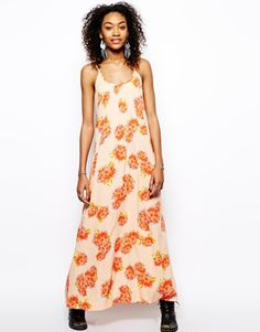 Band of Gypsies Cami Maxi Dress in Floral Print