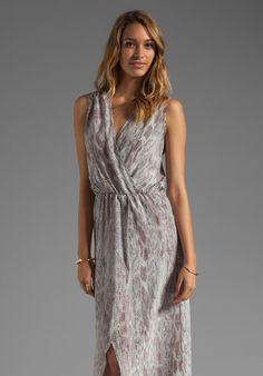 KARINA GRIMALDI Raffaela Print Maxi Dress in Grey Snake