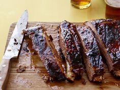 Chili-Glazed Pork Ribs recipe from Food Network Kitchen via Food Network Pork Rib Recipes, Barbecue Recipes, Grilling Recipes, Cooking Recipes, Vegetarian Grilling, Rub Recipes, Healthy Grilling, Roast Recipes, Barbecue Sauce