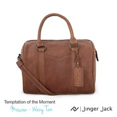Temptation of the Moment. Jinger Jack MOSCOW in Waxy Tan!  ‪#‎NiceThingsOnEarth ‪#‎UniversalEleganceDESIGNEDinCapeTown‬ #LeatherHandbags Leather Handbags, Leather Bag, Messenger Bag, Satchel, Africa, In This Moment, Fish, Wallet, Shoes