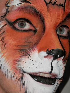 Red Fox close up, face painting by Painted Mistress