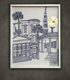 Buy cityscape art indigo home-acccessory online, Buy home-acccessories online